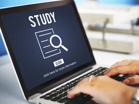 finder: Study Results Analysis Discovery Investigation Concept Stock Photo