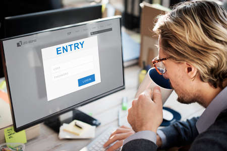 accessible: Entry Authorization Permission Accessible Security Concept Stock Photo