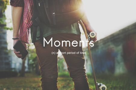 period: Moments Period of Time Life Momeries Concept Stock Photo