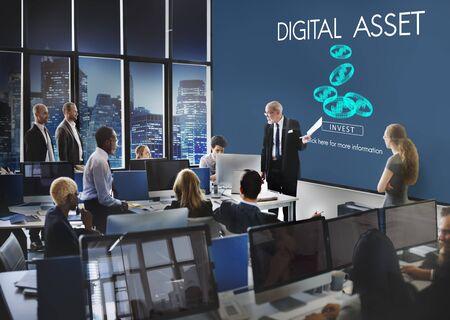 business innovation: Digital Asset Data Information Value Electronic Concept