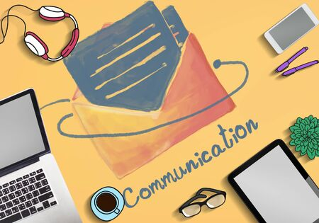 communications tools: E-mail Communication Connection Online Concept