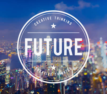 forcast: Future Futuristic Forcast imagine Time Vision Plan Concept