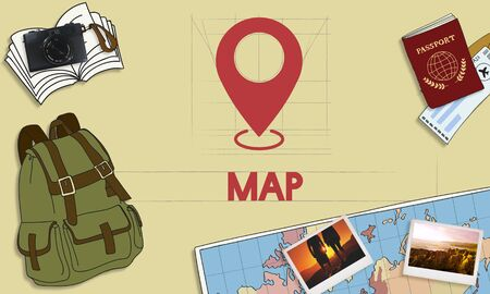 pinpoint: Navigation Location Mapping Destination Technology Graphic Concept