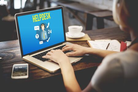 customer support: Helpdesk Customer Support Communication Enquiry Concept