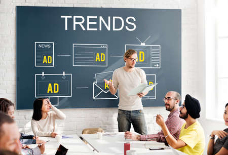 market trends: Trends Market Trends Planning Strategy Direction Business Concept