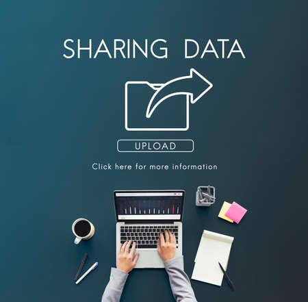 data transfer: Data Transfer Exchange Sharing Sync Upload Concept