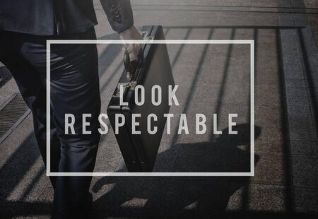 attache case: Respectable Trust Business Integrity Honesty Concept
