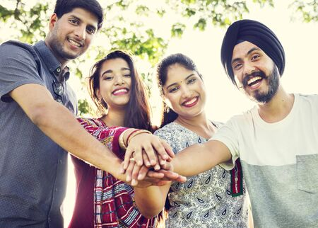 eastern asian: Indian Ethnicity Middle Eastern Asian Community Concept Stock Photo