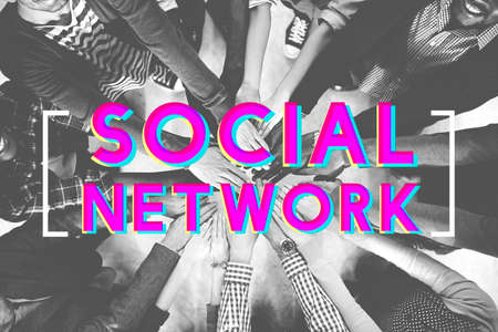 black empowerment: Social Media Connection Networking Chat Concept