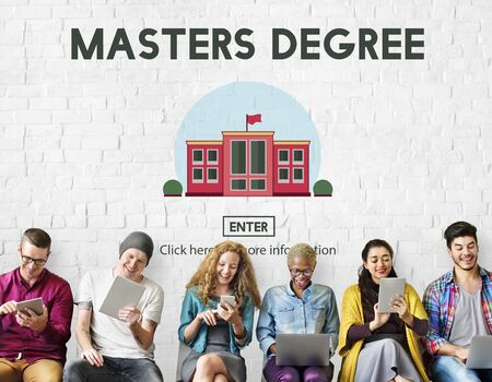 master's: Masters Degree Education Knowledge Concept Stock Photo