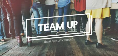 meetup: Team Up Support Strategy United Alliance Concept