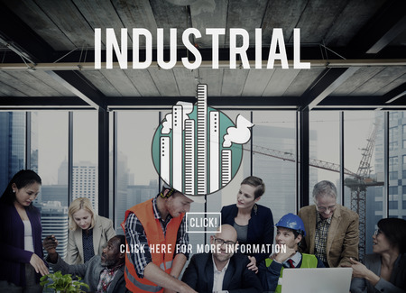 production area: Industrial Area Factory Group Business Production Concept