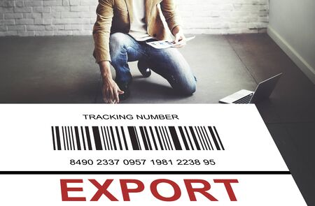 Bar Code Order Tracking Number Concept Stock Photo