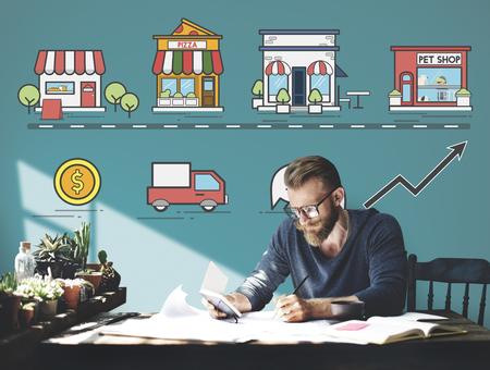 Stratégie marketing Small Business Enterprise Concept Banque d'images - 60911404