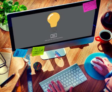 invention: Light Bulb Ideas Creativity Invention Concept Stock Photo