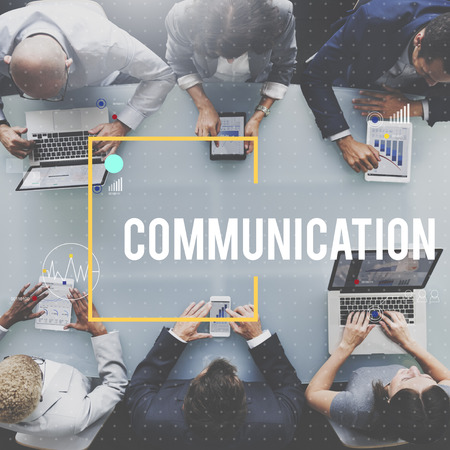 Communication concept with group of people