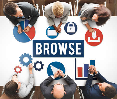 browse: Browse Internet Software Information Webpage Concept Stock Photo