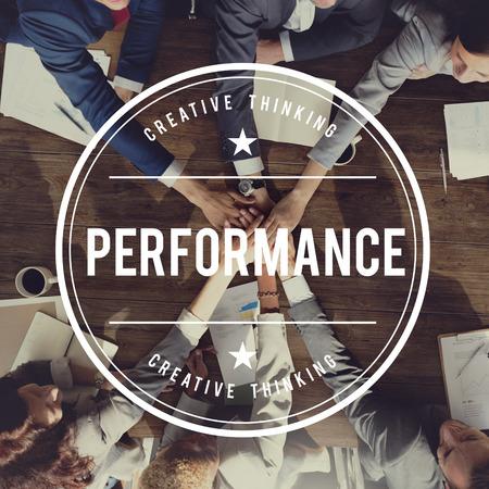 human hands: Performance Accomplishment Development Skill Concept