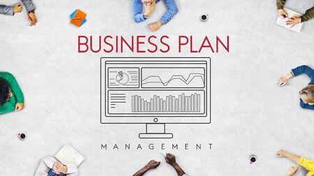 Business Plan Strategy Progress Solution Concept