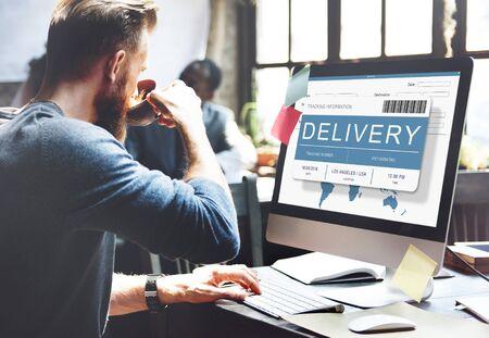 Logistics Delivery Cargo Freight Shipment Concept Reklamní fotografie