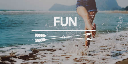 Have Fun Happiness Amusement Enjoyment Pleasure Concept Imagens