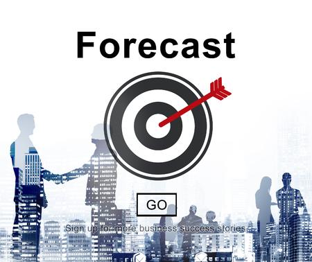 Forecast Prediction Plan Goal Concept Stock Photo