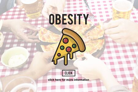 the calories: PIzza Slice Junkfood Obesity Calories Concept Stock Photo