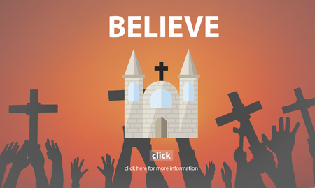 brain mysteries: Believe Faith Hope Ideas Imagine Inspiration Concept Stock Photo