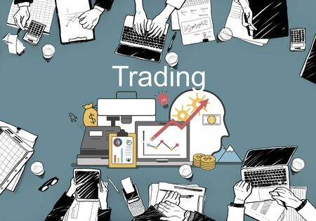 banking concept: Trading Accounting Finance Auditing Money Banking Concept Stock Photo