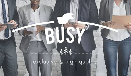 multitask: Busy Occupied Overload Multitask Involved Concept Stock Photo