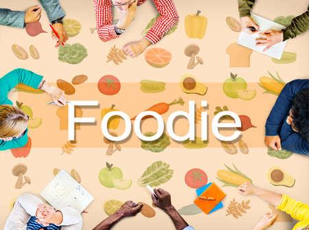 foodie: Foodie Cuisine Culinary Culture Fresh Garnish Concept