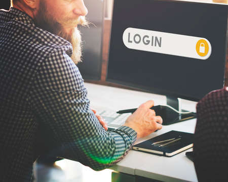 accessible: Log In Accessible Permission Verification Security Concept Stock Photo