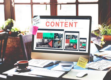 fulfilled: Content Data Blogging Media Publication Concept