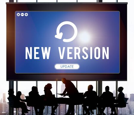 updating: Update Upgrade Installation Latest Updating Concept Stock Photo