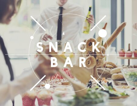 and savory: Snack Bar Fast Food Tasty Appetite Savory Culinary Concept