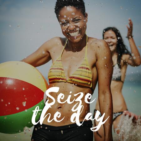 recoger: Agarre el día Recoger Momentos Memorias Placer Concept