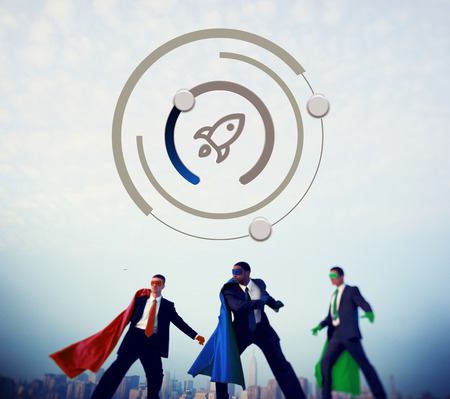 powerful creativity: Start Up Business Rocket Ship Graphic Concept