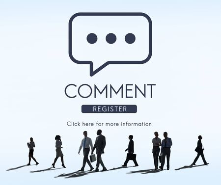comment: Comment Online Conversation Message Concept Stock Photo