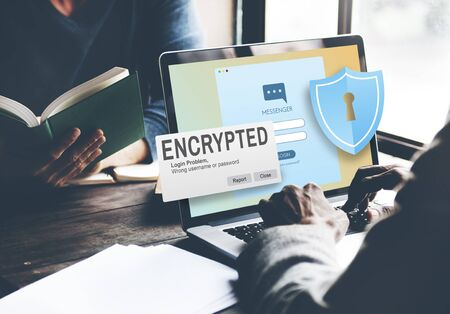 encrypted: Encrypted Information Data Binary Password Safe Concept Stock Photo