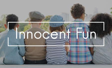 playful: Innocent Fun Playful Playing Children Childhood Concept