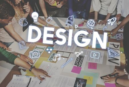 creativity: Creativity Design Process Graphics Concept Stock Photo