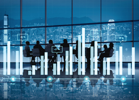 Analytics-rapport Status Informatie Analyse Grafiek van de Grafiek Concept