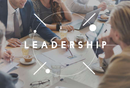 contribution: Leadership Leader Chief Management Contribution Concept Stock Photo