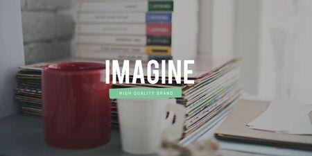 envision: Imagine Expect Robotic Dream Big Concept Stock Photo