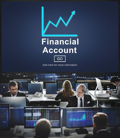 account executive: Financial Account Money Cash Growth Analysis Concept