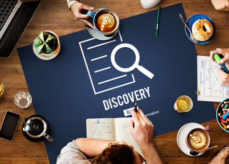 investigation: Discovery Results Analysis Investigation Concept Stock Photo