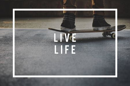 way of living: Live Your Life YOLO You Only LIve Once Concept