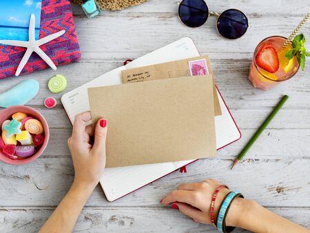correspondencia: Concepto de notas de correo correspondencia diario