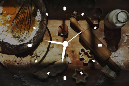 punctual: Tiempo de sincronización puntual concepto de gestión de la Lista Foto de archivo