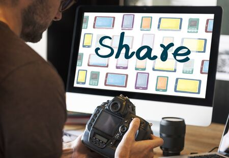 the moments: Share Ideas Moments Connection Share Social Concept